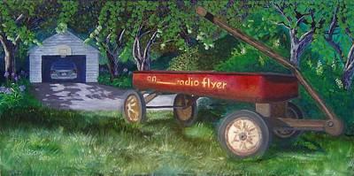 Radio Flyer Wagon Painting - My First Car by Ryan Williams