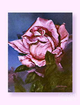 Stem Painting - My First Rose by Lynne Wright