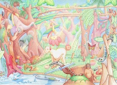 Ibis Drawing - My Garden by Begonha True