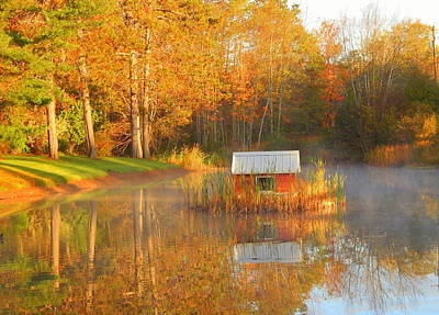 My Golden Pond Print by Karen Cook