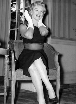 Marilyn Monroe Photograph - Bashful Marilyn Monroe by Retro Images Archive