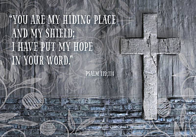 Jesus Digital Art - My Hiding Place by Kathryn McBride