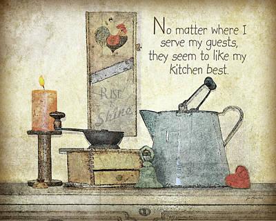 Inspirational Painting - My Kitchen by Jo Moulton
