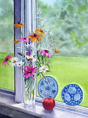My Kitchen Window Print by Karol Wyckoff