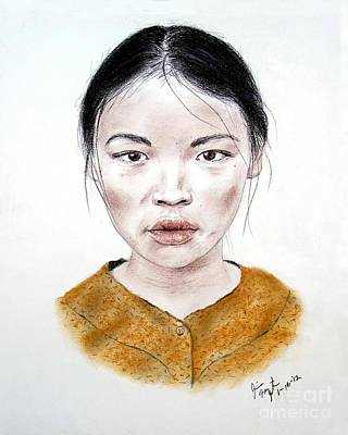 My Kuiama A Young Vietnamese Girl  Print by Jim Fitzpatrick