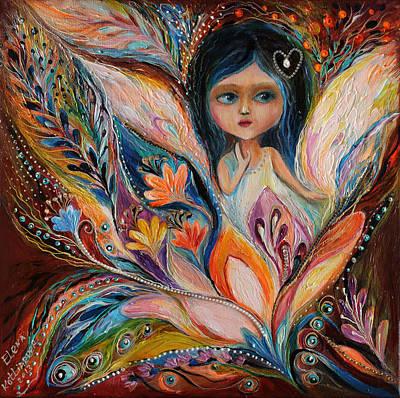 Swarovski Crystal Painting - My Little Fairy Francine by Elena Kotliarker