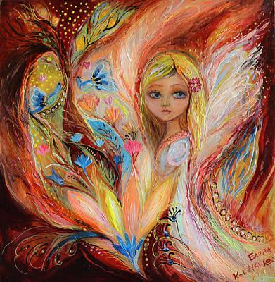 My Little Fairy Sandy Print by Elena Kotliarker