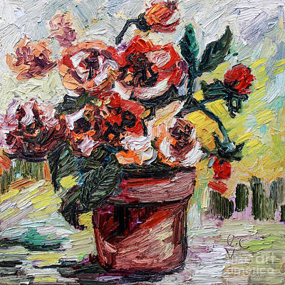 Begonia Garden Painting - My Little Flower Pot by Ginette Callaway