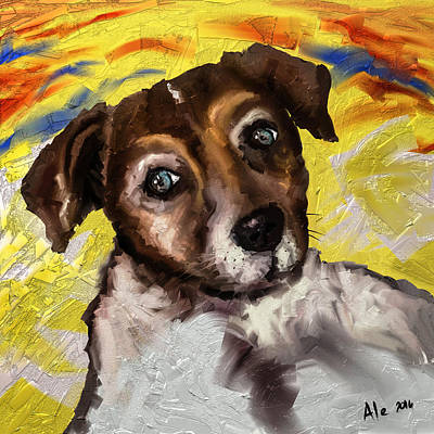 Puppy Dog Eyes Painting - My Little Jack by Alessandro Della Pietra