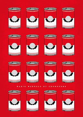 Tomato Digital Art - My Mario Warhols Minimal Can Poster-mario-2 by Chungkong Art