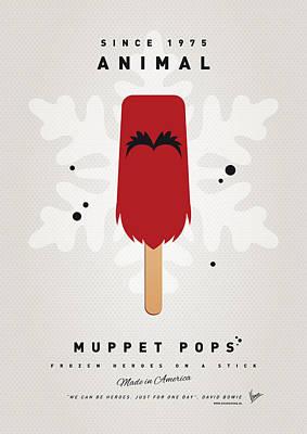 My Muppet Ice Pop - Animal Print by Chungkong Art