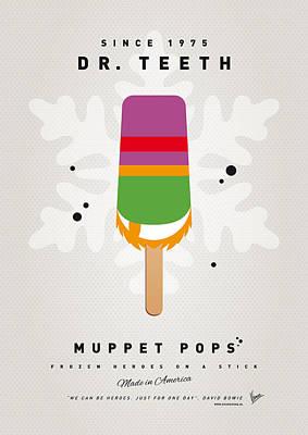 Tooth Digital Art - My Muppet Ice Pop - Dr Teeth by Chungkong Art