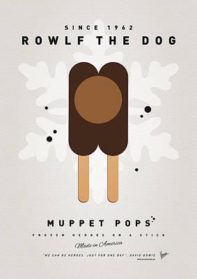 My Muppet Ice Pop - Rowlf Print by Chungkong Art