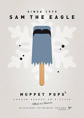 Eagles Digital Art - My Muppet Ice Pop - Sam The Eagle by Chungkong Art