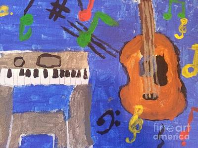 Pentagram Art Painting - My Musical World by Epic Luis Art