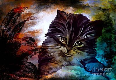 Kitty Digital Art - My Name Is Goliath. by Andrzej Szczerski
