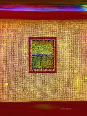 Foundation Mixed Media - My Neighbor's House In Colors by Lenore Senior