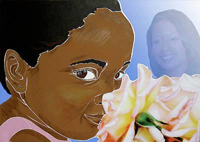 My Pink Rose Original by Martha Rucker