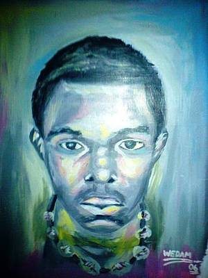 Painting - My Portrait by Wedam Abassey