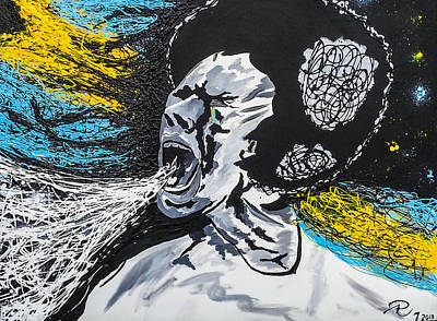 Shouting Painting - My Pride by Abrian Rankine