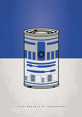 Minimalist Digital Art - My Star Warhols R2d2 Minimal Can Poster by Chungkong Art