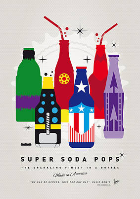 Comic Books Digital Art - My Super Soda Pops No-27 by Chungkong Art