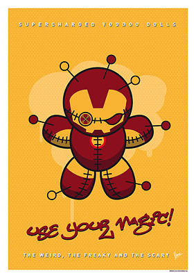 Voodoo Doll Digital Art - My Supercharged Voodoo Dolls Ironman by Chungkong Art