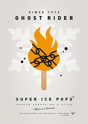 My Superhero Ice Pop - Ghost Rider Print by Chungkong Art