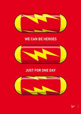 My Superhero Pills - The Flash Print by Chungkong Art