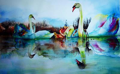Brush.media Drawing - My Swam Lake by Isabel Salvador