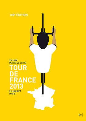Cycling Digital Art - My Tour De France Minimal Poster by Chungkong Art