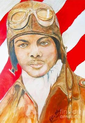 My Tuskegee Airman Original by E La Rue