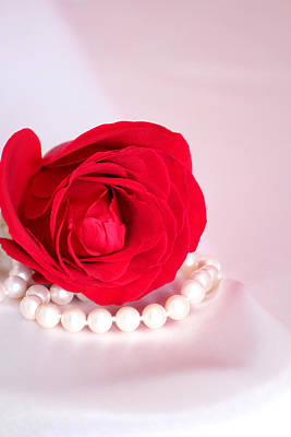 Pearls Photograph - My Valentine by  The Art Of Marilyn Ridoutt-Greene