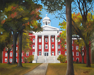 University School Painting - Myers Hall by Jacqueline DelBrocco