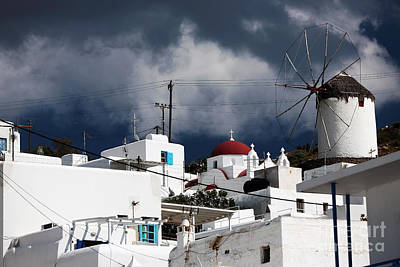 House On The Hill Photograph - Mykonos Windmill On The Hill by John Rizzuto