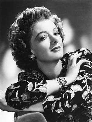 1940s Hairstyles Photograph - Myrna Loy, Mgm Portrait, 1940s by Everett