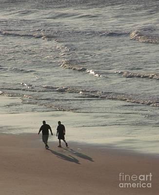 Myrtle Beach Walking Buddies Print by Gail Matthews