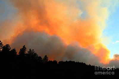 Print featuring the photograph Myrtle Fire Near Rifle Pit Road by Bill Gabbert