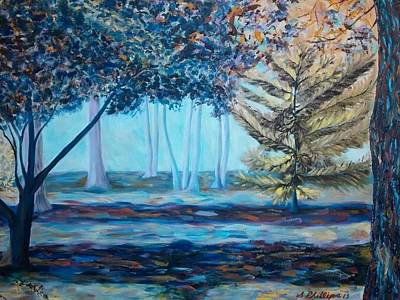 Oil Painting - Mysterious Forest by Scott Phillips