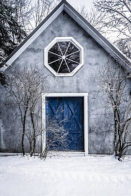 Mysterious House With Blue Door Print by Edward Fielding