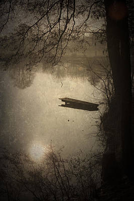 Wooden Platform Photograph - Mysterious Morning by Maria Heyens
