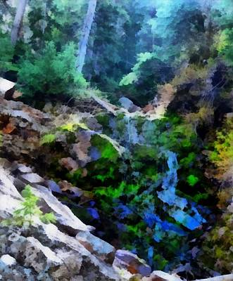 Yellowstone Mixed Media - Mysterious Water Wonderland by Dan Sproul