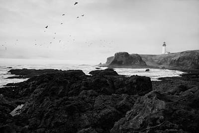 Yaquina Head Lighthouse Photograph - Mysterious Yaquina Head by Mark Kiver