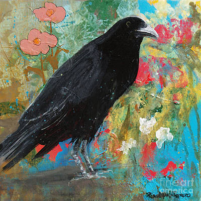Crow Painting - Mystery At Every Turn by Robin Maria  Pedrero