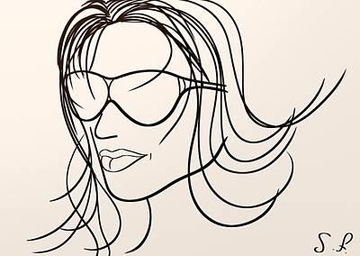 Hairstyle Digital Art - Mystery Woman by Sotiris Filippou