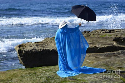 Mystic Blue By The Sea 2 Print by Bob Christopher