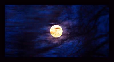 Mystic Moon Through Branches Print by Susanne Still