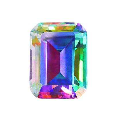 Mystic Topaz Gemstone Print by Science Photo Library