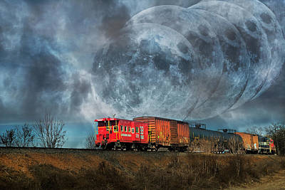Caboose Photograph - Mystic Tracking by Betsy Knapp