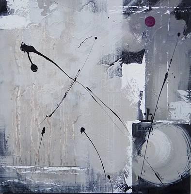 Black Bird.flying Art Painting - Mystified Three by Laura Lee Zanghetti